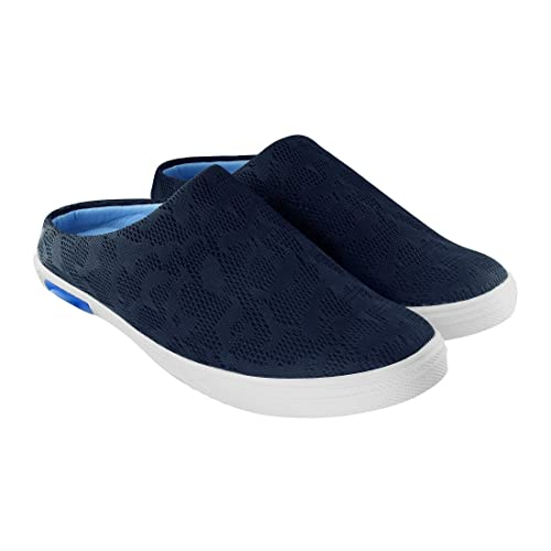 55a8a081abb Blinder Black Blue Mesh Half Back Open Mocassion Loafers Shoes for Men On  Amazon.in  Amazon.in  Shoes   Handbags