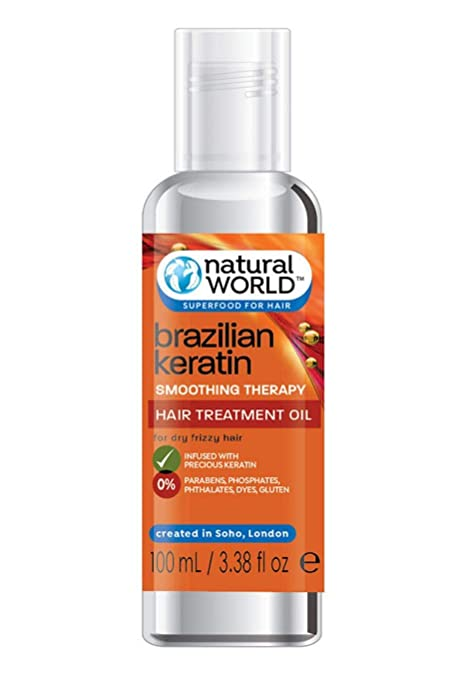 BRAZILIAN KERATIN OIL smoothing therapy hair treatment oil