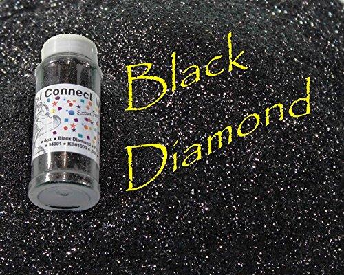 Black Diamond, Extra Fine Poly Glitter 1/128, 4oz Shaker Bottle