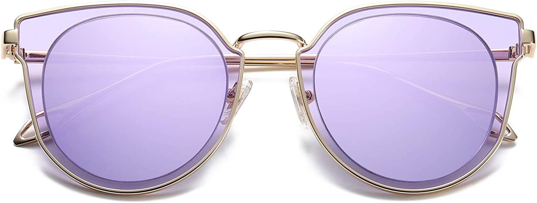 SOJOS Rotondi Occhiali da Sole Donna Vogue Moda vintage Specchiati SJ2057