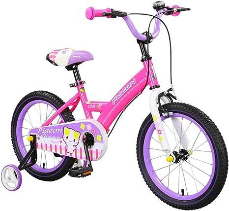 Ppy778 Bicicleta para niños Bicicletas para niños 14,16 Pulgadas Bicicleta 3-4-5-6-8 años de Edad Bicicletas para niños Bicicleta en Color Rosa Regalo de la niña: Amazon.es: Deportes y aire libre