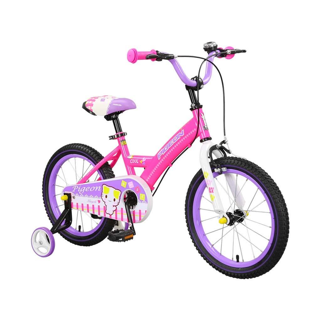 子供用の自転車女の子用自転車子供用おもちゃ14,16インチバイク3-4-5-6-8歳子供用自転車ピンクのバイク女の子用ギフト (Color : Pink, Size : 16inches) 16inches Pink B07NSV2LHS