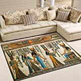 ALAZA Ancient Egypt Scene Women Area Rug for Living Room Bedroom 5'3 x 4′ Review
