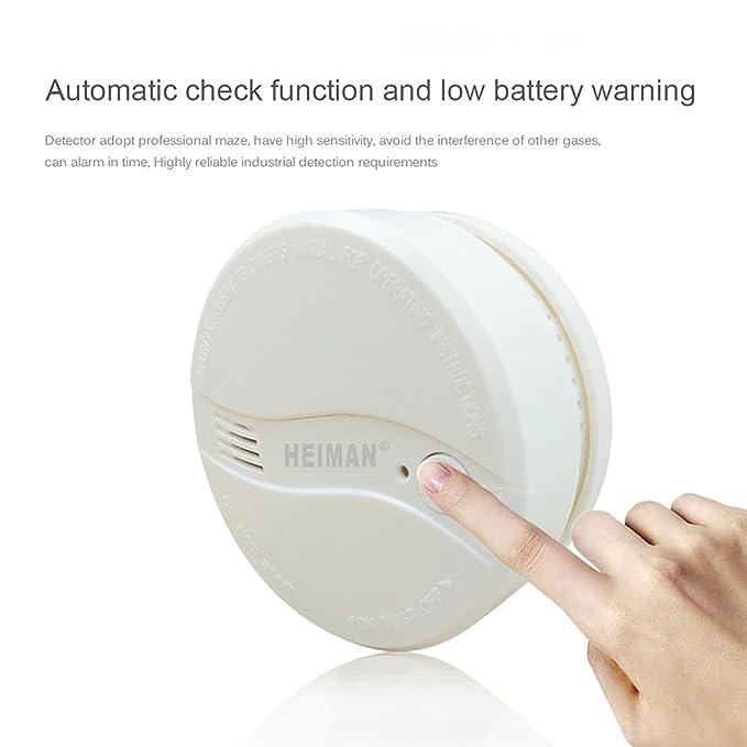 Heiman - Alarmas de humo alimentadas por red eléctrica para el hogar - 622PS: Amazon.es: Bricolaje y herramientas