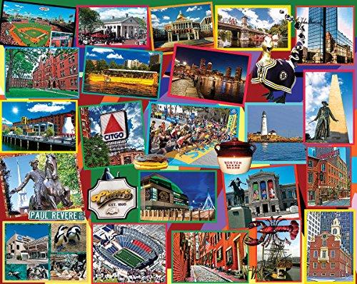 White Mountain Puzzles Boston - 1000 Piece Jigsaw - Boston Puzzle