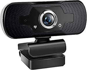 ALLO 1080P HD PC Webcam, USB Computer Web Camera with Built-in Microphone for Gaming Live Streaming Video Calling, Compatible with Computer Desktop Laptop MacBook Windows Vista