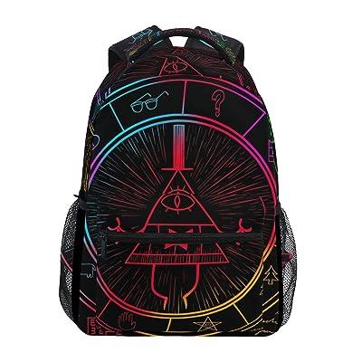 IMOBABY Bill Cipher Wheel Zodiac School Backpack Book Bag Travel Daypack | Kids' Backpacks