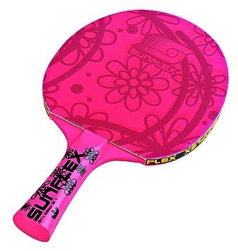 Sunflex GirlŽs Edition - Pala de ping-pong para niña, color rosa Talla:cóncavo: Amazon.es: Deportes y aire libre