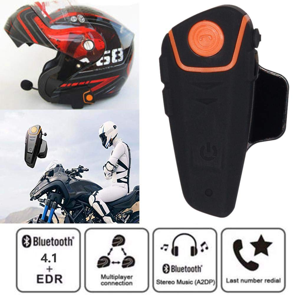 BT-S2 1000m Bluetooth Headset Waterproof BT Motorcycle Motorbike Helmet Intercom Interphone Headset,Walkie Talkie GPS Hands Free MP3 Player FM Radio for 2 or 3 Riders Motorcycle Communication System