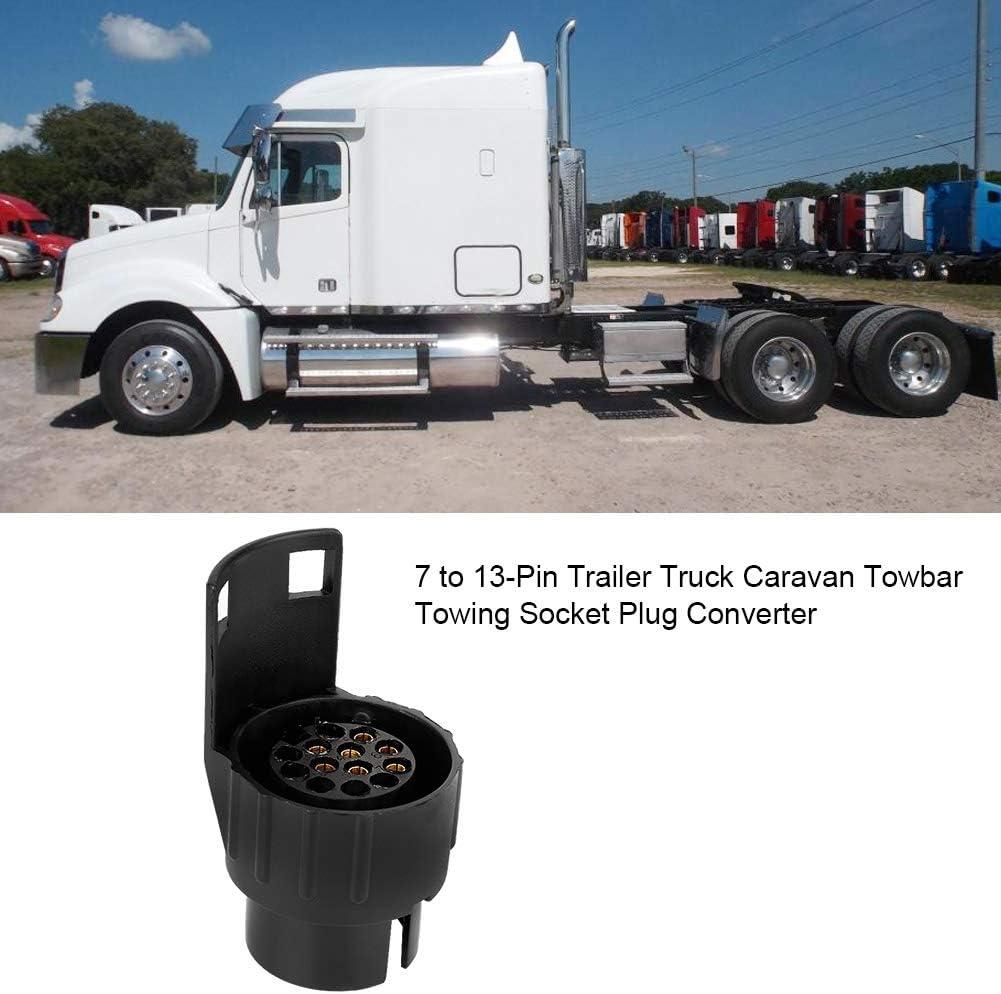 Duokon ABS 7 a 13 pin rimorchio camion caravan gancio di traino presa di corrente adattatore convertitore convertitore nero