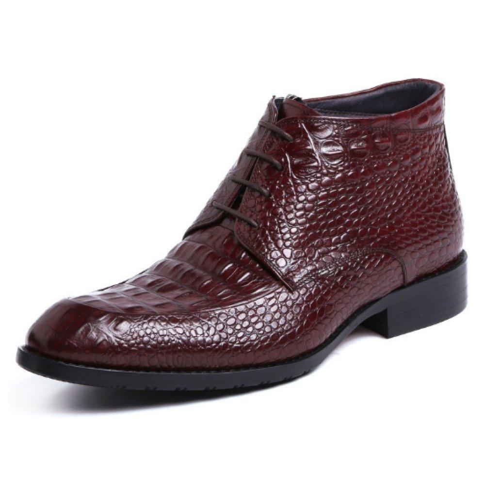 Patrón De Cocodrilo Hombres Zapatos De Cuero Zapatos Altos Botines Zapatos De Inglaterra Zapatos con Punta Tacones Bajos Botas Martin: Amazon.es: Zapatos y ...