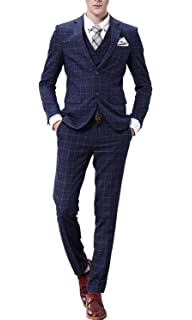 Michealboy Men Suit Classic Fit 2-Piece Black Two Pockets Gentleman