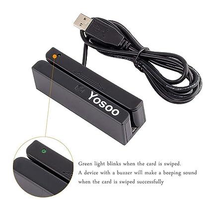 ZJchao Magnetic Stripe Card Reader Newest USB MSR90 3 Tracks Hi-Co Magnetic Stripe Credit Card Reader