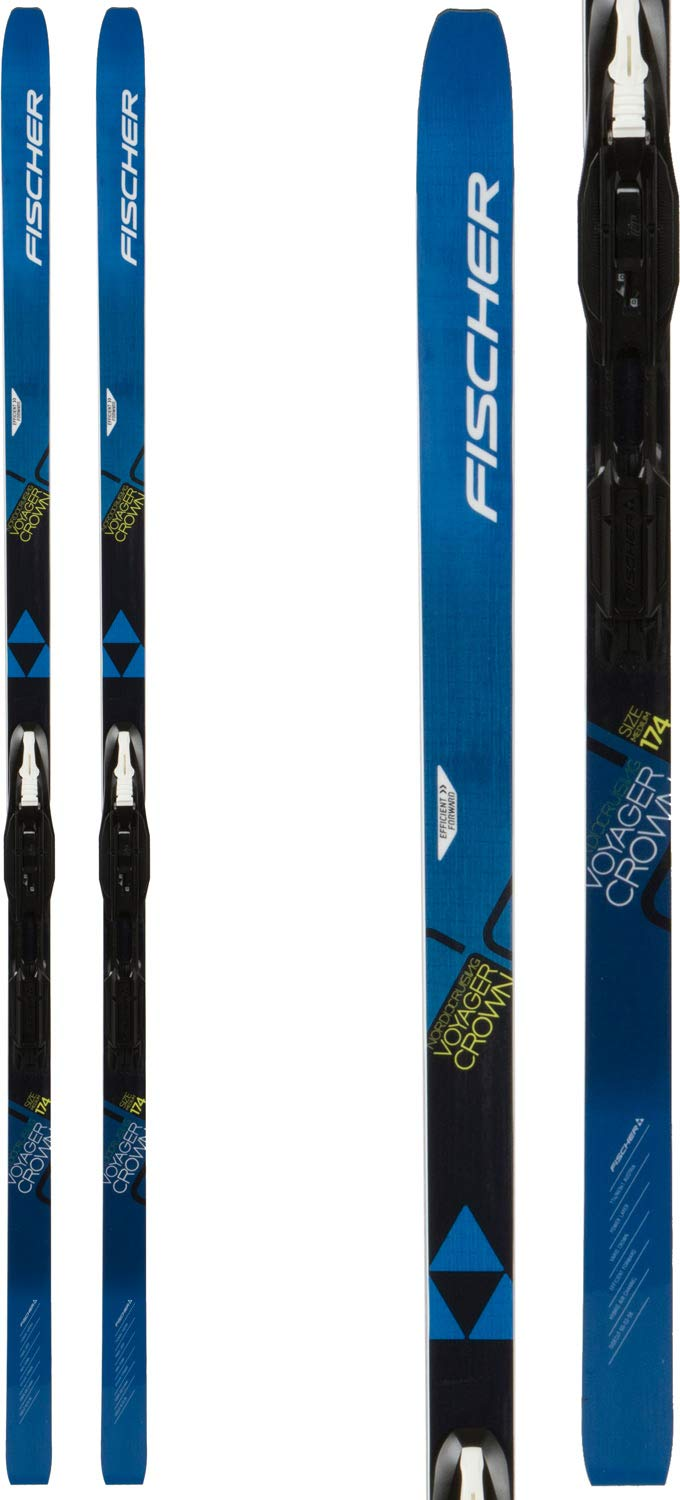 Fischer Voyager EF Mens XC Skis 164 w/Tour Step-in IFP Bindings Black/White by Fischer