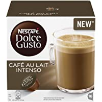 NESCAFÉ DOLCE GUSTO Café au Lait Intenso Coffee Pods, 16 Capsules (Pack of 3 - Total 48 Capsules, 48 Servings)