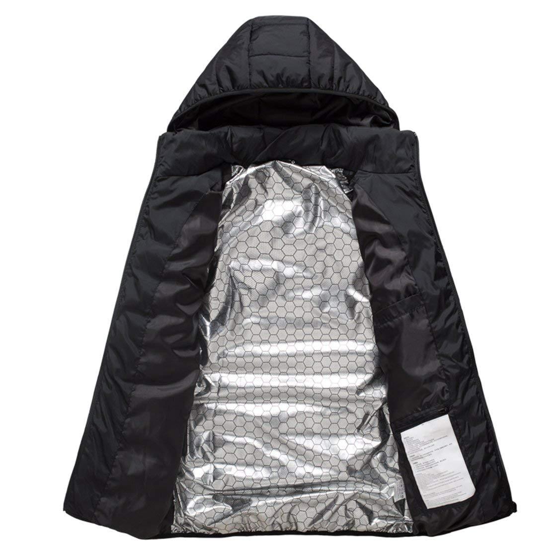 XL MICHA Giacca da Uomo riscaldata elettrica Gilet Gilet Donna Cappotto Piumino Termico Giacca Softshell Riscaldamento Invernale Vestiti Nero