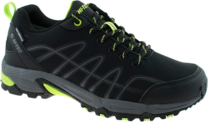 Hi Tec Corvus WP Mens Waterproof All Terrain Hiking Walking Shoes Boots Black
