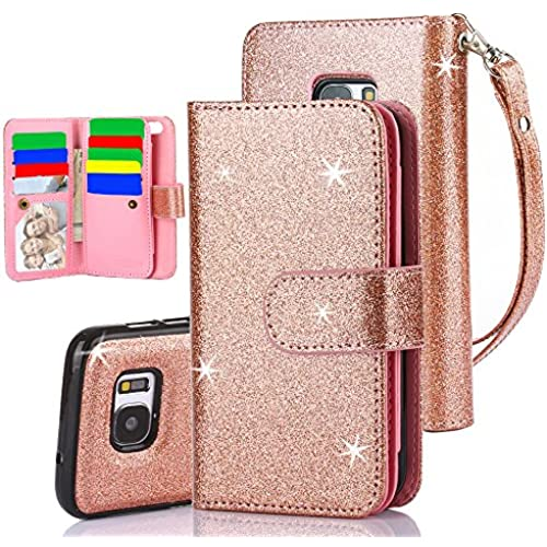 Galaxy S7 Edge Case, TabPow 10 Card Slot - [ID Slot] Wallet Folio PU Leather Case Cover With Detachable Magnetic Hard Case For Samsung Galaxy S7 Edge Sales
