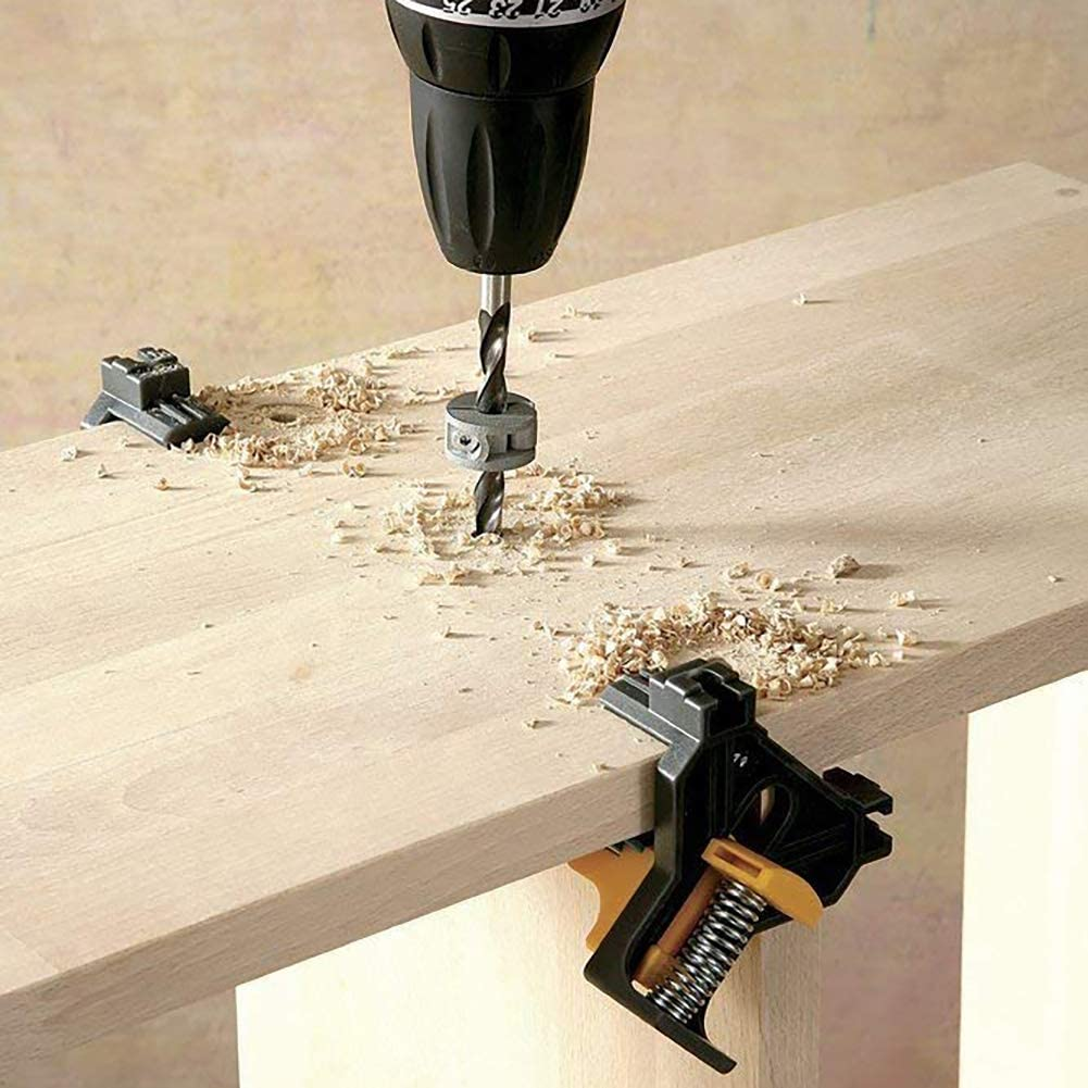 Abrazadera de /ángulo multifunci/ón para carpinter/ía mango /único 90/° abrazadera de esquina para bricolaje Doolland