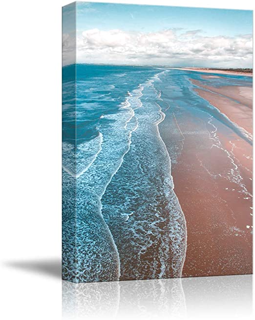 Ocean sea sand blue print poster wall art