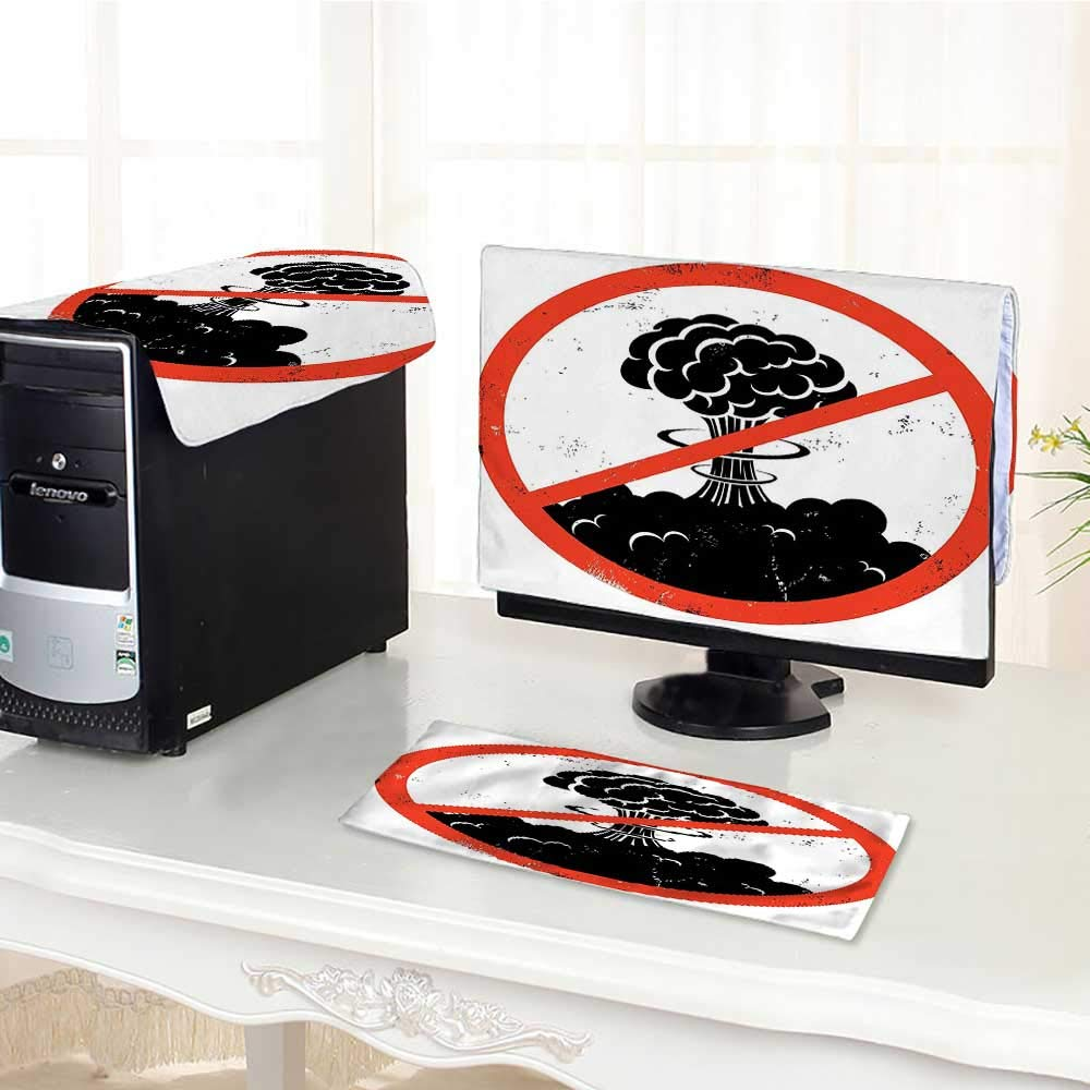 Jiahonghome キーボードダストカバー コンピューター 3つのモチベーションとエクササイズスポーツ レジャー 理論 ブラック ティール コンピューター ダストカバー 17インチ W28