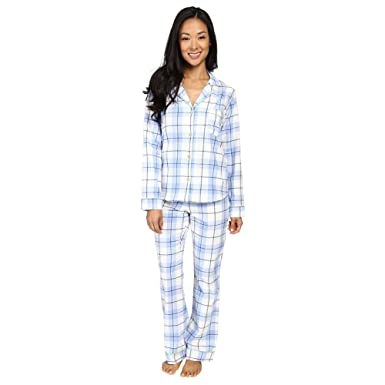 UGG Women's Raven Set Plaid Women's Pajama Blue Blue Large