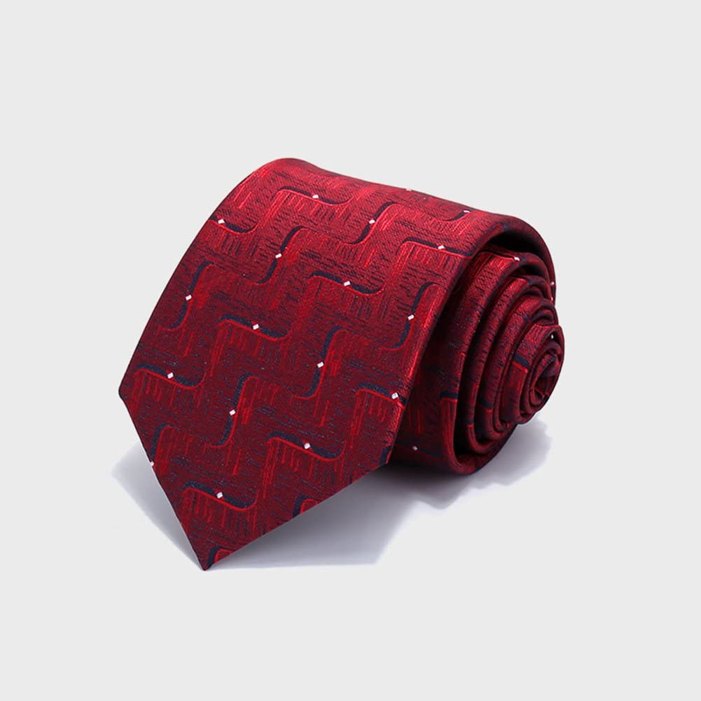 Red 3,5 * 8 * 145cm Color : Red Tie High-quality Polyester Men Ripple White Dot Fashion Business Collocation Blue