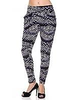 Sassy Apparel Womens Comfy Harem Style Tribal Pattern Printed Pants