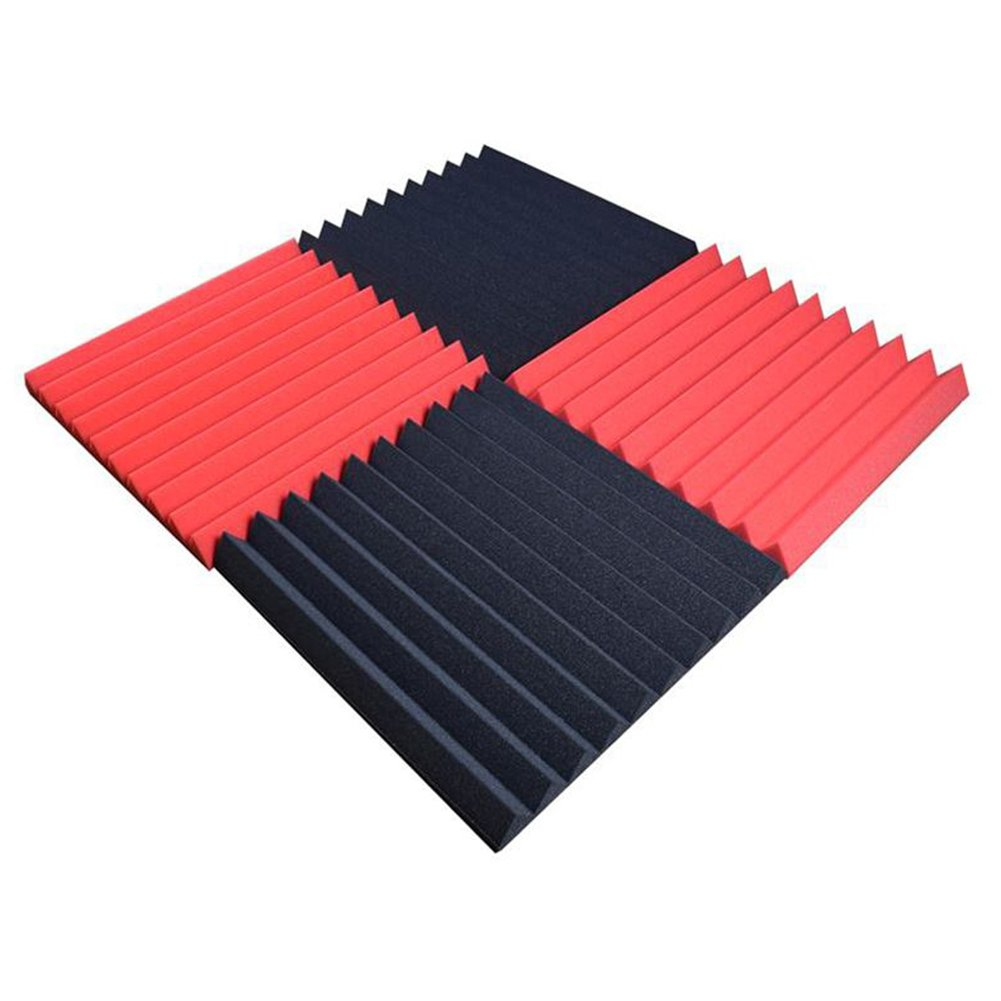 Pannelli acustici bloomma pannelli acustici isolamento pannelli DIY Protezione sonora Schiuma Piramidi 30/* 30/* 5/cm nero