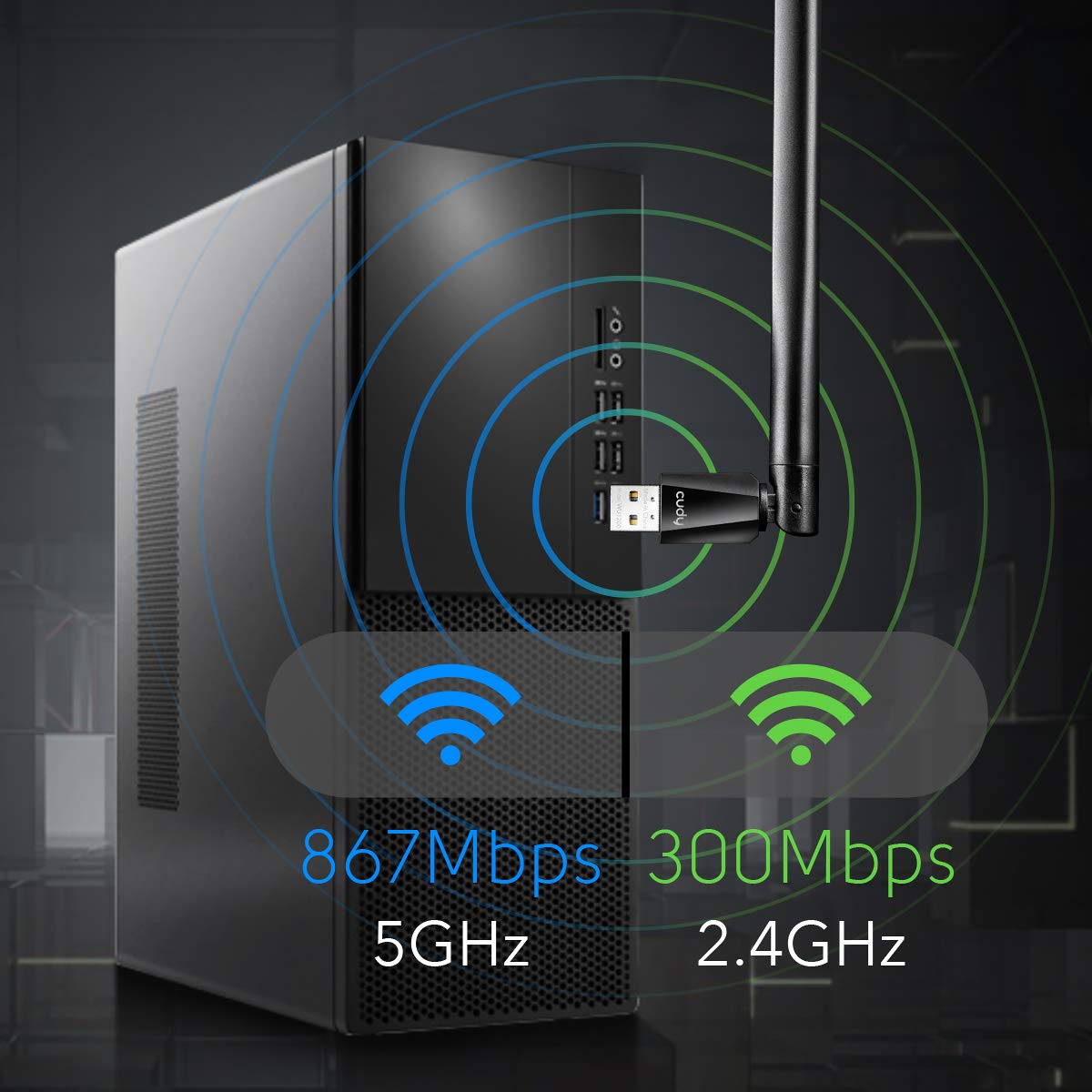 300Mbps WiFi PCIe Card Free Driver on Windows 10//8.1//8 Wireless Network Card Cudy WE300 N300 PCIe WiFi Card for PC