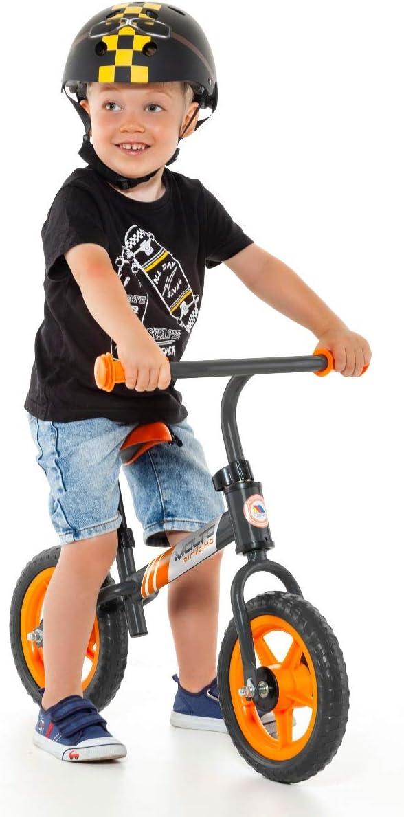 Bicicleta sin Pedales Minibike Molto - sin Casco. con sillín y Manillar Regulables (Naranja)
