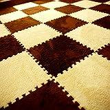 Carpet Interlocking Floor Tiles – Plush Carpet Area Rug – Puzzle Floor Mat – Interlocking Carpet Tiles, Thick, Non Toxic, Anti-Fatigue, Fluffy,Premium Foam Mat Review