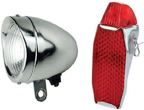 KIT Fanale Luce Anteriore Rosso R Graziella Posteriore 3 LED Bici Olanda