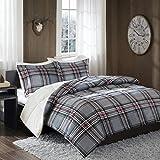 Print Mink to Berber Comforter Mini Set Grey Full/Queen