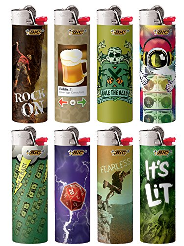 BIC Special Edition Good Vibes Series Lighters, 2018, Set of 8 Lighters