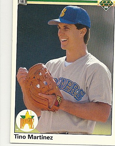 1990 UPPER DECK TINO MARTINEZ ROOKIE COLLECTIBLE BASEBALL TRADING CARD #37 (MARINERS) FREE SHIPPING