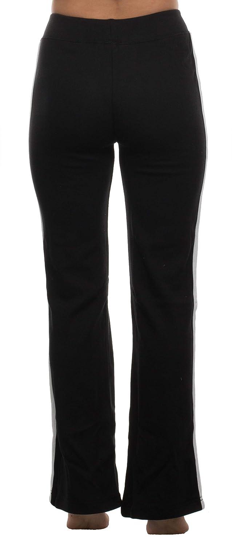 Brandsseller Damen Sporthose Jogginghose Trainingshose Freizeithose mit kleinem Druckmotiv und Kontraststreifen