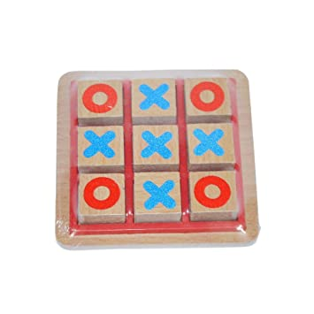 BEST SHOP Wooden TIC TAC Toe Mini-Summer Indoor Fun !!!
