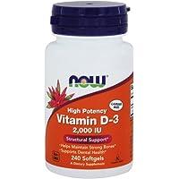 Vitamin D-3 2000IU 240 Softgels (Pack of 2)