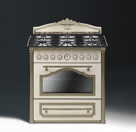 Smeg CC9GPO Cucina Cortina Panna Ottone: Amazon.it: Grandi ...