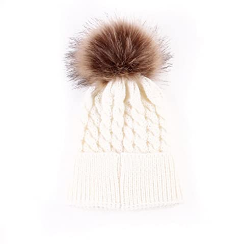 f8ee9907cfd Oenbopo Baby Winter Warm Knit Hat Infant Toddler Kid Crochet Hairball Beanie  Cap