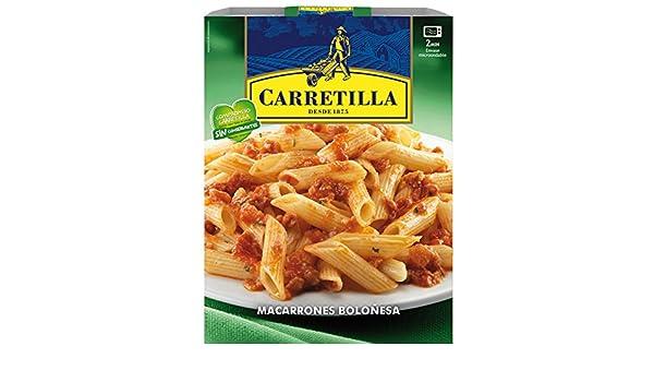 Carretilla - Macarrones Boloñesa, 325 g: Amazon.es: Alimentación y bebidas