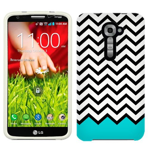 verizon-lg-g2-case-snap-on-cover-by-trek-chevron-black-white-turquoise-ribon-firm-case