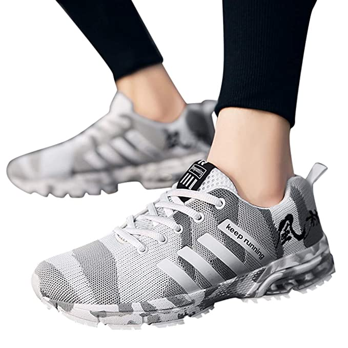 JiaMeng Zapatillas Running para Hombre Aire Libre y Deporte Transpirables Casual Zapatos Camuflaje de Malla Transpirable Zapatillas Deportivas Zapatillas ...