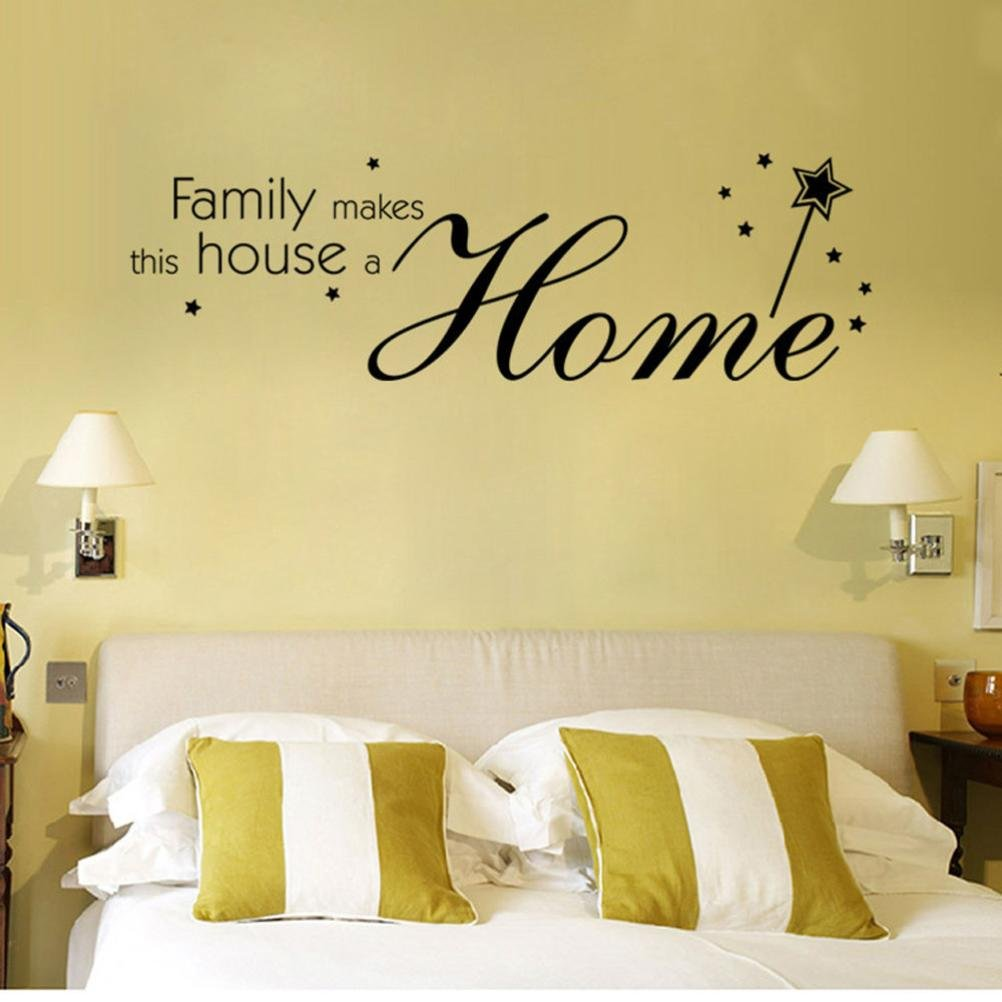 Amazon.com : Family Makes this House a Home Removable Vinyl Decal ...