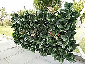 e-joy 24 Piece Artificial Topiary Hedge Plant Privacy Fence Screen Greenery Panels Suitable for Both Outdoor or Indoor, Garden or Backyard and Home Decorations, European Holly, 20'' H x 20'' L