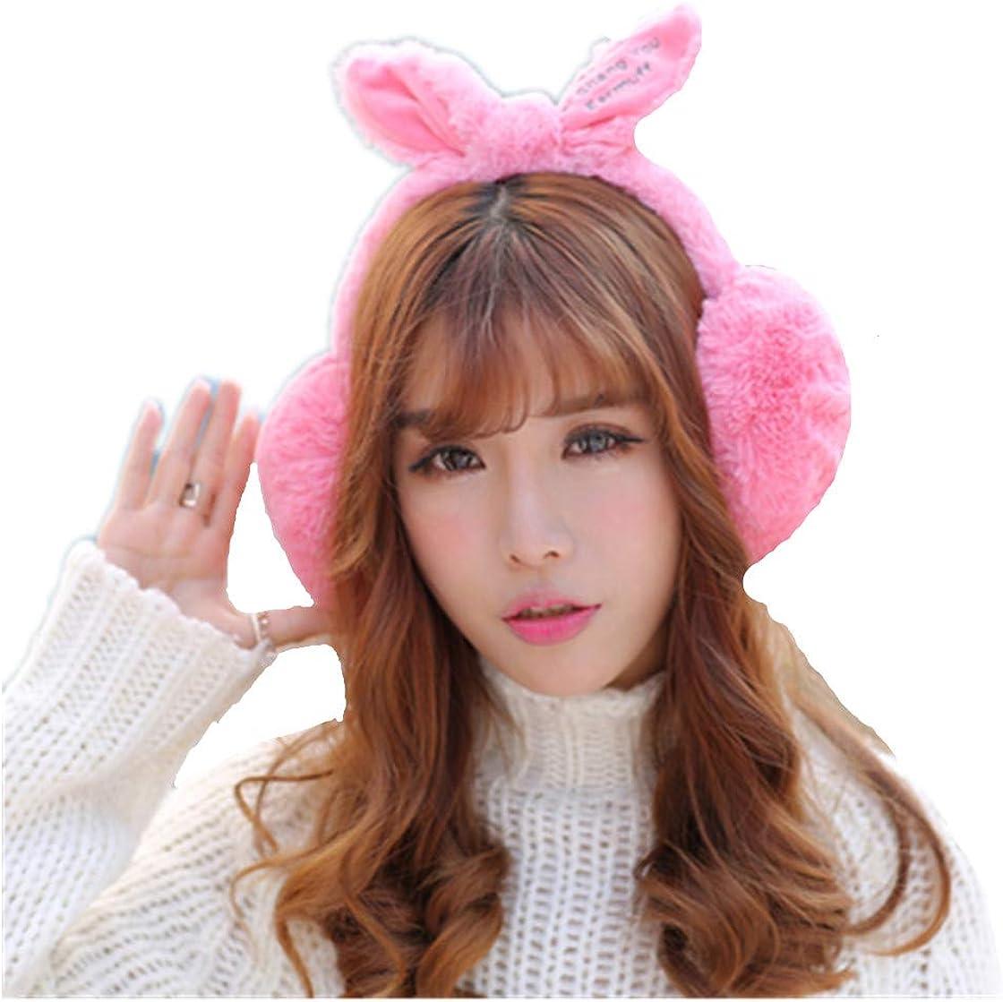 Elegant Rabbit Winter Earmuffs for Women Warm Fur Lovely Ear Warmers Gifts