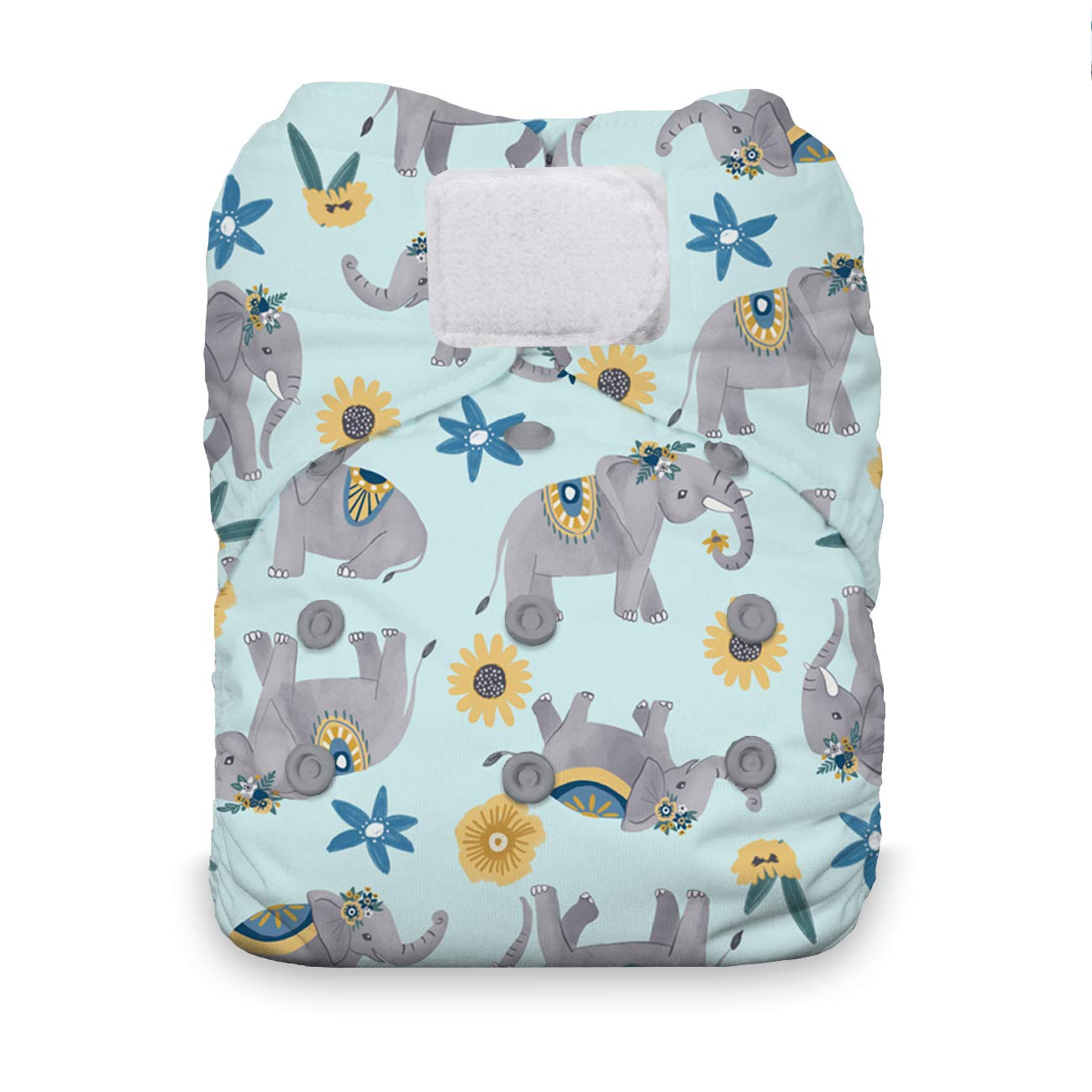 Hook /& Loop Closure Bluebonnet Thirsties One Size All in One Cloth Diaper
