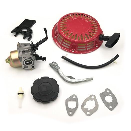 Shioshen Retroceso de arranque carburador gobernador brazo palanca Kit para HONDA GX160 GX200 5.5hp 6.5hp Gas motor Motor generador