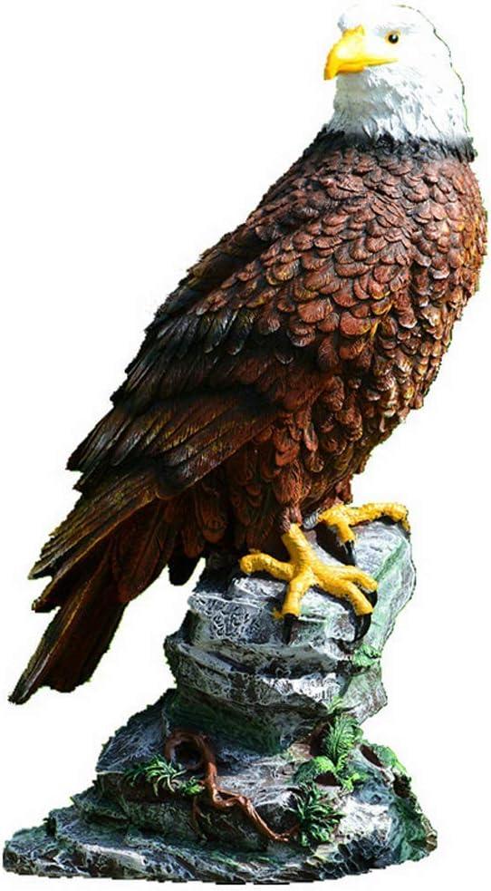 Bald Eagle Resin Ornament Figurine Statue Garden Landscape Decoration for Home Desk House Garden Lawn Decoration